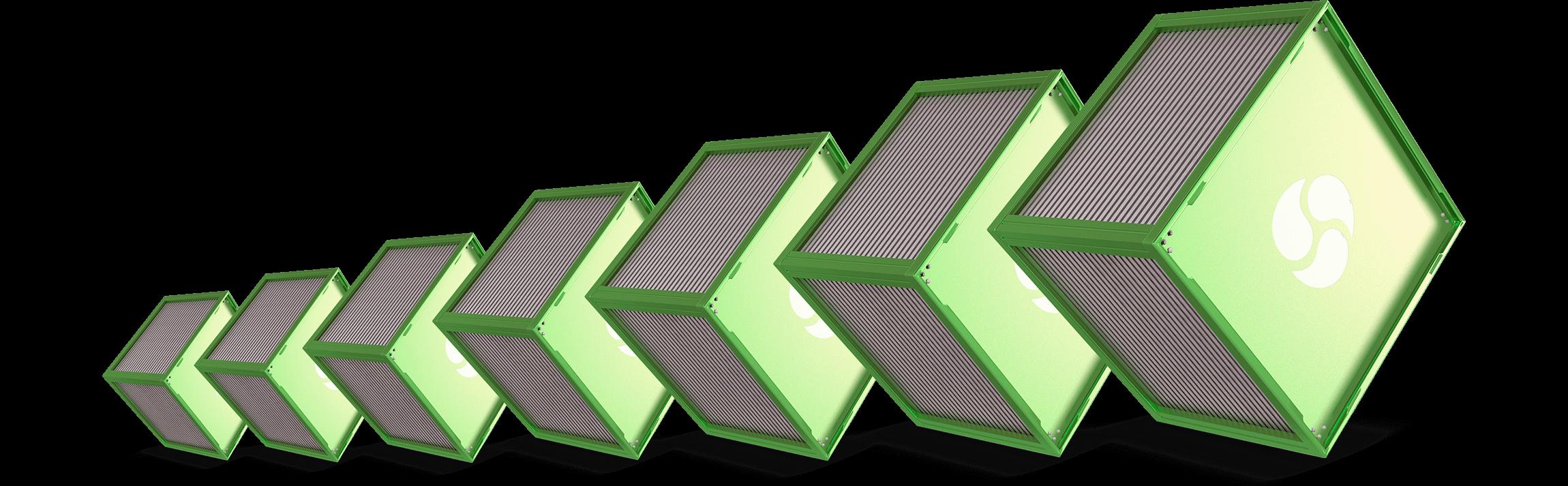 crossflow-heat-exchanger-sizes